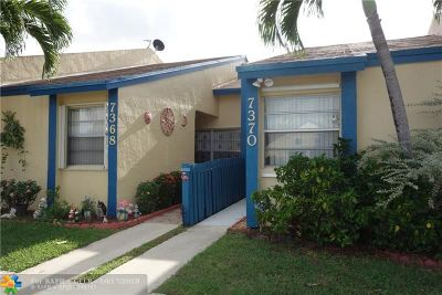 Lauderhill Condo/Townhouse For Sale: 7368 NW 34th St #7368