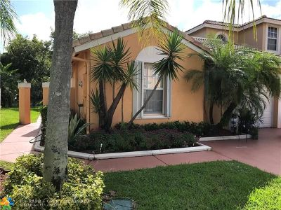 Coral Springs Condo/Townhouse For Sale: 5617 NW 117th Ave #5617
