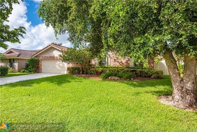 Coral Springs Single Family Home For Sale: 4018 NW 72nd Ave