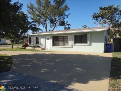 Pompano Beach Single Family Home For Sale: 2701 NE 11th Av