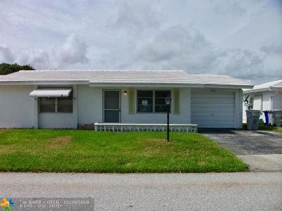 Pompano Beach FL Single Family Home For Sale: $169,900