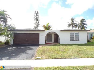 Sunrise Single Family Home For Sale: 9652 NW 19th Pl