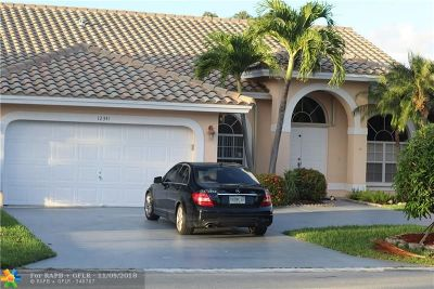 Coral Springs Single Family Home For Sale: 12341 SW 1st St