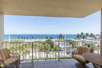 Lauderdale By The Sea Condo/Townhouse For Sale: 4540 N Ocean Dr #502