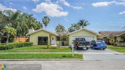Coconut Creek Single Family Home For Sale: 640 NW 49th Ave