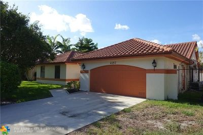 Deerfield Beach Single Family Home For Sale: 4157 NW 4th Ct