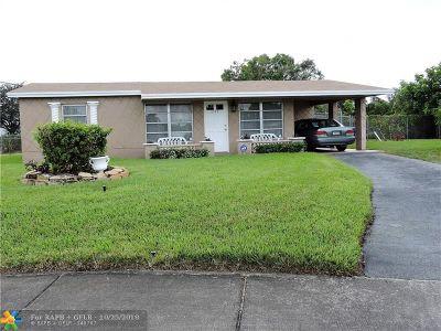 Lauderhill FL Single Family Home For Sale: $254,900