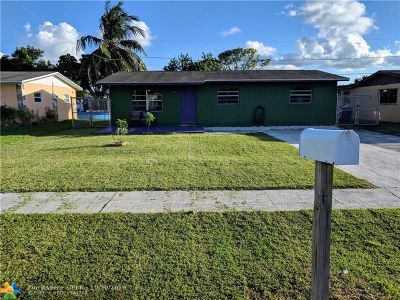 Pompano Beach FL Single Family Home For Sale: $182,000