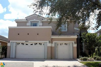 Coral Springs Single Family Home For Sale: 8554 NW 47th St
