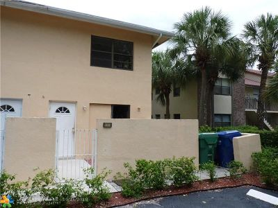Coral Springs Condo/Townhouse For Sale: 11631 NW 45th St #4