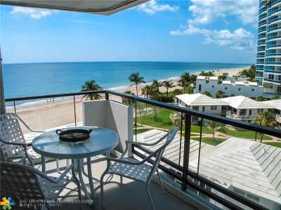 Lauderdale By The Sea Condo/Townhouse For Sale: 1500 S Ocean Blvd #606