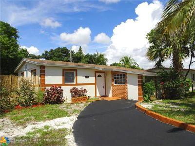Pompano Beach Single Family Home For Sale: 5351 NE 10th Ave