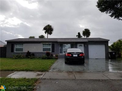 North Lauderdale Single Family Home For Sale: 6220 SW 18th Ct