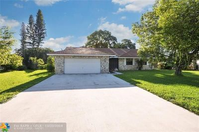 Coral Springs Single Family Home For Sale: 4319 NW 112th Ave