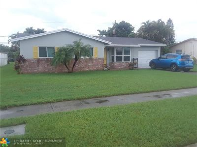 Margate Single Family Home For Sale: 6400 NW 22nd Ct