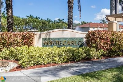 Margate Condo/Townhouse For Sale: 5620 Monte Carlo Ln #5620