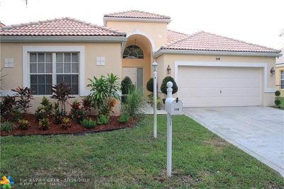 Coral Springs Single Family Home For Sale: 248 NW 116th Ter