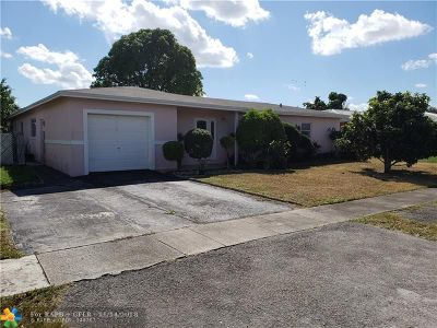 North Lauderdale Single Family Home For Sale: 6808 Oakhill