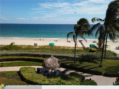 Fort Lauderdale Condo/Townhouse For Sale: 3100 N Ocean Blvd #309