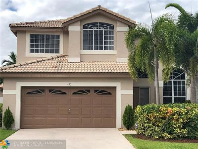 Pembroke Pines Single Family Home For Sale: 430 SW 182nd Way