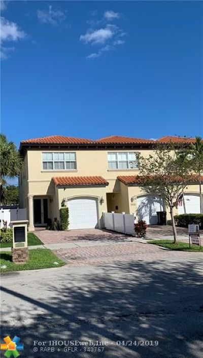 Fort Lauderdale Condo/Townhouse For Sale: 5434 NE 22nd Ter #5434