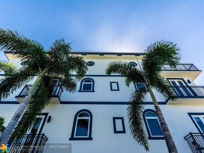 Fort Lauderdale Condo/Townhouse For Sale: 822 NE 7th St #822