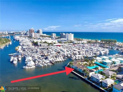 Fort Lauderdale Condo/Townhouse For Sale: 3037 Harbor Dr #13