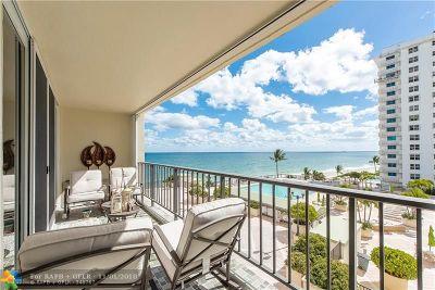 Fort Lauderdale Condo/Townhouse For Sale: 4280 Galt Ocean Dr #4M