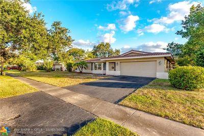 Plantation Single Family Home Backup Contract-Call LA: 7260 NW 5th Ct