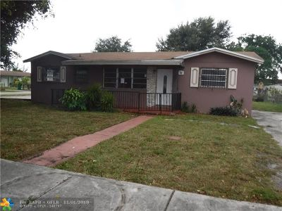 Miami Gardens Single Family Home For Sale: 2730 NW 210th Ter