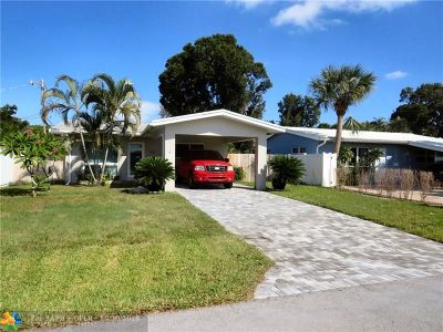 Oakland Park Single Family Home Backup Contract-Call LA: 1365 NE 39th St