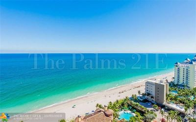Fort Lauderdale Condo/Townhouse For Sale: 2110 N Ocean Blvd #21E