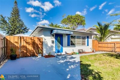 Oakland Park Single Family Home For Sale: 1085 NE 32nd St