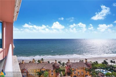 Fort Lauderdale Condo/Townhouse For Sale: 2110 N Ocean Boulevard #16E
