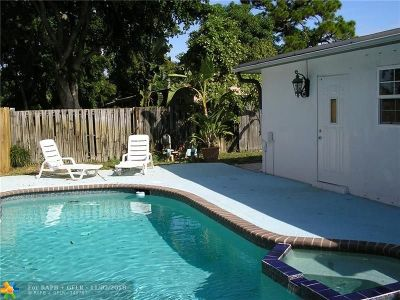 Oakland Park Single Family Home For Sale: 801 NE 36th St