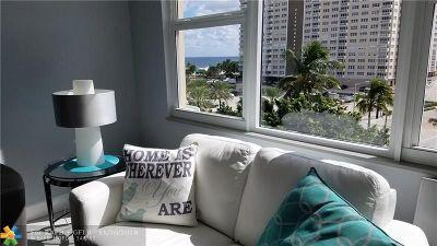 Pompano Beach Condo/Townhouse For Sale: 201 N Ocean Blvd #604