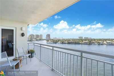 Fort Lauderdale Condo/Townhouse For Sale: 511 Bayshore Dr #808