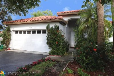 Coconut Creek Single Family Home For Sale: 4931 NW 55th Ct