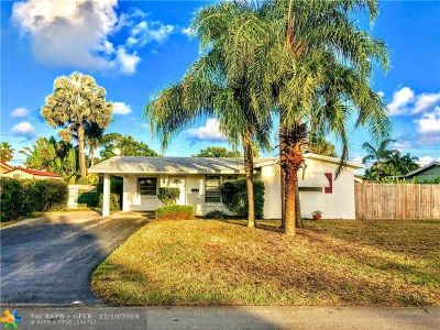Oakland Park Single Family Home For Sale: 4440 NE 13th Ave