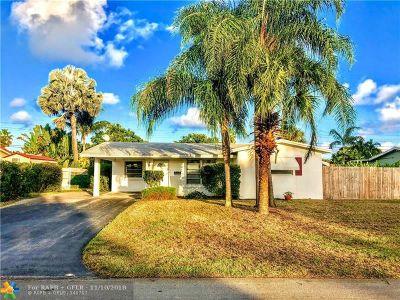 Broward County Single Family Home For Sale: 4440 NE 13th Ave