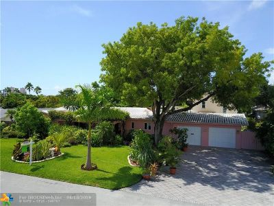 Fort Lauderdale, Lauderdale By The Sea, Lighthouse Point, Oakland Park, Pompano Beach Single Family Home For Sale: 2508 NE 29th Ct