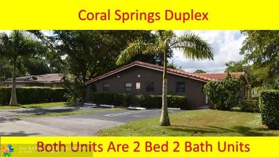 Coral Springs Multi Family Home For Sale: 3880 NW 79th Ave