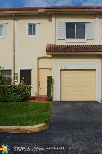 Coral Springs Condo/Townhouse For Sale: 2354 Coral Springs Dr #8