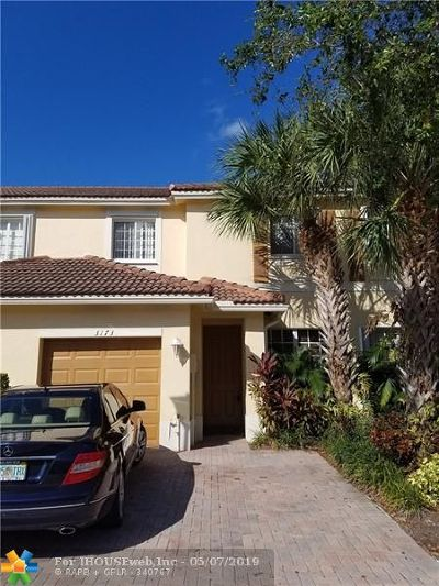 Oakland Park Condo/Townhouse For Sale: 3173 NW 32nd St #3173