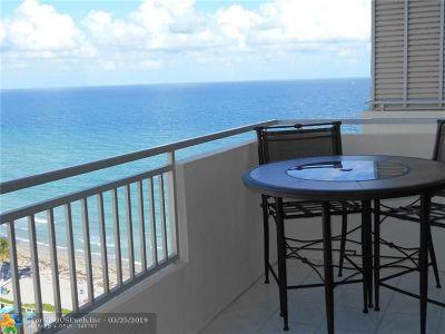 Hallandale Condo/Townhouse For Sale: 3180 S Ocean Dr #1406