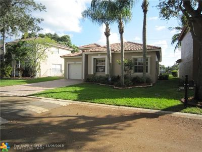 Coral Springs Single Family Home For Sale: 6184 NW 40th St