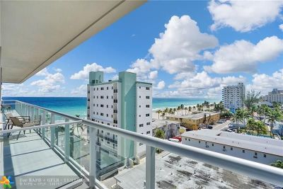 Broward County Condo/Townhouse For Sale: 777 N Ocean Dr #N609
