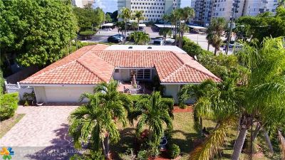 Lauderdale By The Sea Single Family Home For Sale: 1860 Bel Air Ave