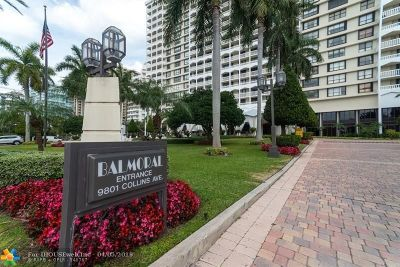 Bal Harbour Condo/Townhouse For Sale: 9801 Collins Ave #14T