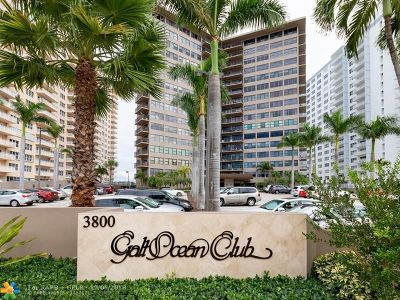 Fort Lauderdale Condo/Townhouse For Sale: 3800 Galt Ocean Dr #411